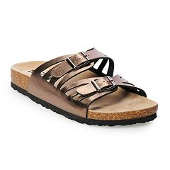 Women's Mudd® Perforated Double Strap Sandals