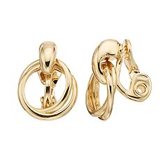 Napier Doorknocker Clip On Earrings