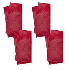 St. Nicholas Square® Solid Red Poinsettia Napkin 4-pack