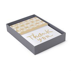 Hallmark 50-Count 'Gold Foil' Assorted Thank You Note Set