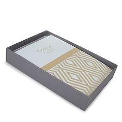 Hallmark 50-Count 'Blue and Gold' Assorted Thank You Note Set