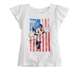 Disney's Minnie Mouse Toddler Girl American Flag Graphic Tee Disney/Jumping Beans®