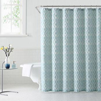 1888 Mills Kalahari Ikat Ogee Shower Curtain
