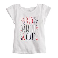 Baby Girl Jumping Beans® 'Red, White & Cute' Graphic Tee