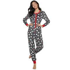 Juniors' Peace, Love & Fashion Polar Bear One-Piece Pajamas
