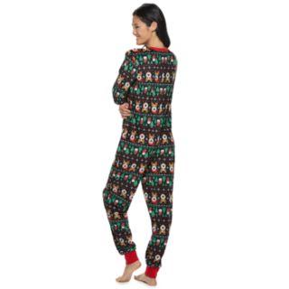 Juniors' Peace, Love & Fashion Fairisle One-Piece Pajamas