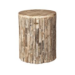 Patio Sense Elyse Indoor / Outdoor Wood Stool