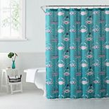 1888 Mills Savvy Crabs Whimsical Printed Shower Curtain