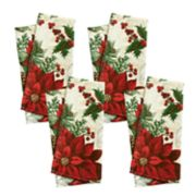 St. Nicholas Square® Poinsettia Print Napkin 4-pack