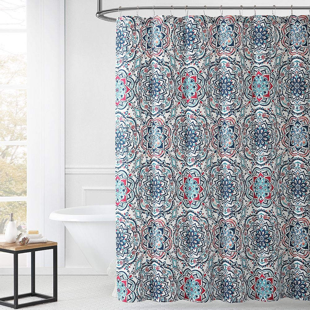 1888 Mills Leila Multi-color Shower Curtain