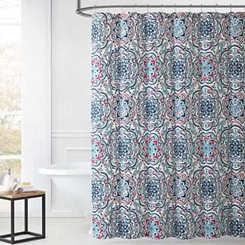 1888 Mills Leila Multi-color Shower Curtain