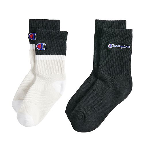 d0002de9 Boys 4-20 Champion Colorblock 2-Pack Socks