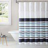 1888 Mills Parker Stripe Woven Shower Curtain
