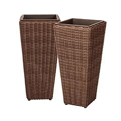 Patio Sense Alto Indoor / Outdoor Wicker Planter 2-piece Set
