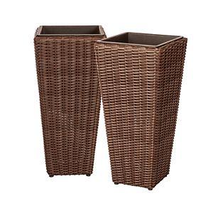 Patio Sense Alto Indoor / Outdoor Wicker Planter 2-piece Set