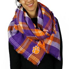 Women's Clemson Tigers Tailgate Blanket Scarf
