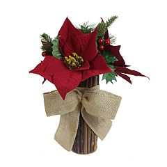 SONOMA Goods for Life™ Artificial Poinsettia Stack Table Decor