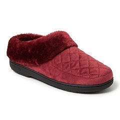 Women's Dearfoams Quilted Velour Clog Slippers
