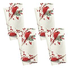 St. Nicholas Square® Cardinal & Sprig Toss Print Napkin 4-pack