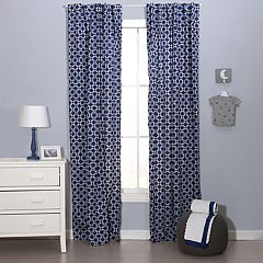 The Peanut Shell Doodle & Dot Window Curtain Set