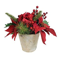 SONOMA Goods for Life™ Artificial Poinsettia Arrangement Table Decor