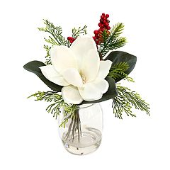 SONOMA Goods for Life™ Artificial Magnolia & Mason Jar Table Decor