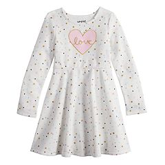 Girls 4-12 Jumping Beans® Print Fleece Skater Dress
