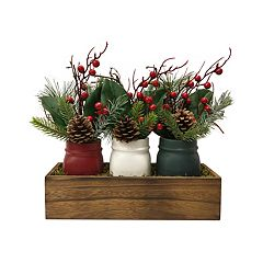 SONOMA Goods for Life™ Rustic Mason Jar Table Decor 3-piece Set