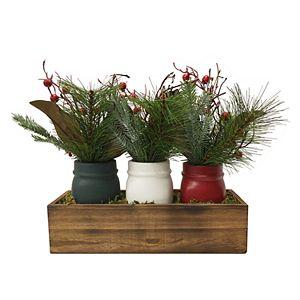 Sonoma Goods For Life® Rustic Mason Jar Table Decor 3-piece Set