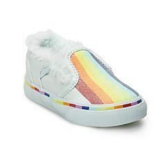 Vans Asher V Toddler Girls Rainbow Skate Shoes