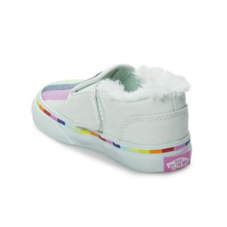 Vans Asher V Toddler Girls Rainbow Skate Shoes
