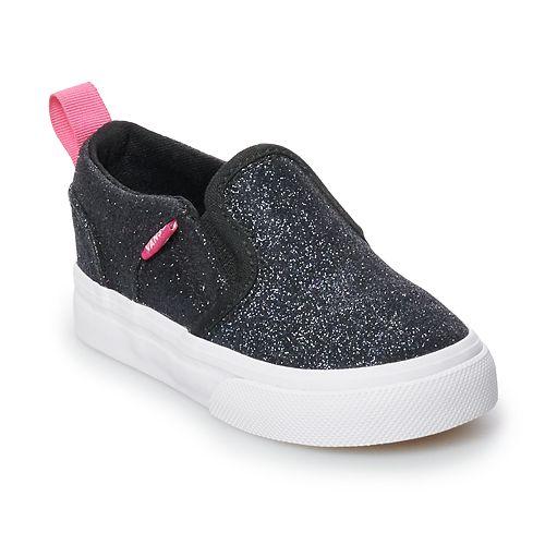 41d8dc87f9 Vans Asher V Toddler Girls Glitter Skate Shoes