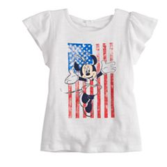 Disney's Minnie Mouse Toddler Girl American Flag Graphic Tee by Disney/Jumping Beans®