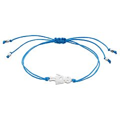 LC Lauren Conrad Robot Link & Blue Thread Adjustable Bracelet