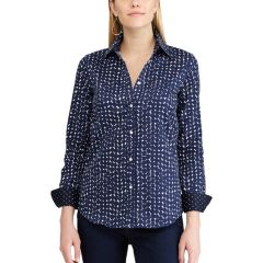 Womens Blue Chaps Button Down Shirts Shirts Blouses Tops