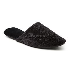 Women's Dearfoams Embossed Velour Scuff Slippers