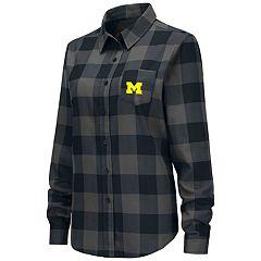Women's Michigan Wolverines Plaid Flannel Shirt
