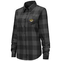 Women's Missouri Tigers Plaid Flannel Shirt
