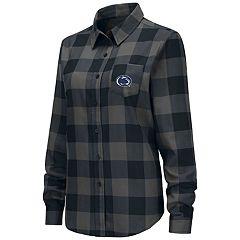 Women's Penn State Nittany Lions Plaid Flannel Shirt