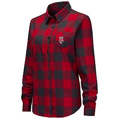 Women's Wisconsin Badgers Plaid Flannel Shirt