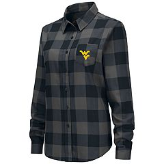Women's West Virginia Mountaineers Plaid Flannel Shirt