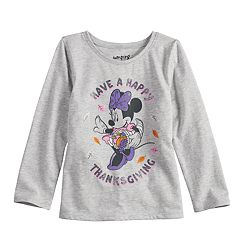 Disney's Minnie Mouse Thanksgiving Glittery Graphic Tee by  Disney/Jumping Beans®