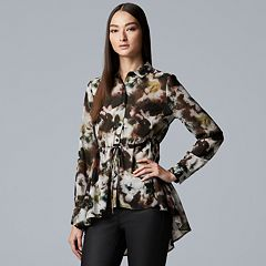 Women's Simply Vera Vera Wang Printed Peplum Blouse