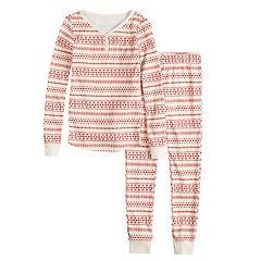 Girls 7-16 LC Lauren Conrad Jammies For Your Families Knit Winter Fairisle Top & Bottoms Pajama Set