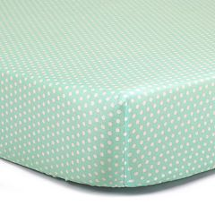 The Peanut Shell Dot Fitted Crib Sheet