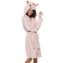 Juniors' Peace, Love & Fashion Unicorn Hood Robe