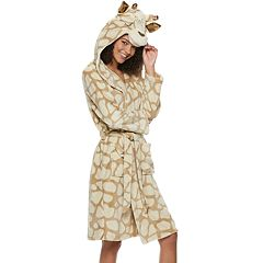Juniors' Peace, Love & Fashion Giraffe Hood Robe