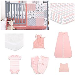 The Peanut Shell Uptown Girl 11-pc. Sleep Essentials Crib Gift Set