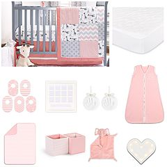The Peanut Shell Uptown Girl 18-pc. Nursery Essentials Gift Set