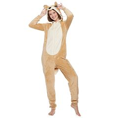 Juniors' Peace, Love & Fashion Fox One-Piece Pajamas
